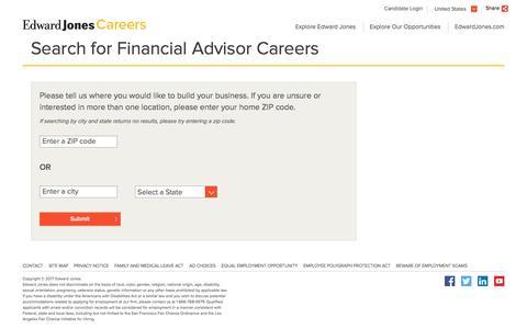 Financial Advisor Jobs Near You - Edward Jones