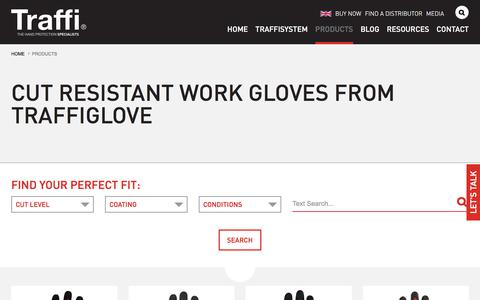 Screenshot of Products Page traffiglove.com - Cut Resistant Gloves | Cut Proof Gloves | TraffiGlove - captured July 14, 2019