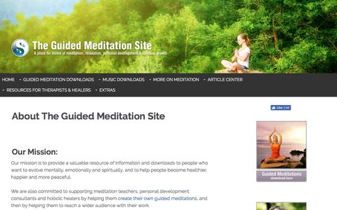 Screenshot of About Page the-guided-meditation-site.com - About The Guided Meditation Site - captured Oct. 30, 2017
