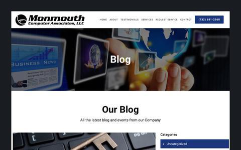 Screenshot of Blog monmouthcomputer.com - Our Blog | monmouthcomputer.com - captured Sept. 20, 2018