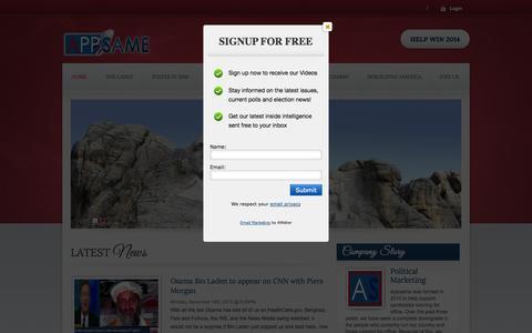 Screenshot of Home Page appsame.com - Appsame | Rebuild America - captured Sept. 13, 2014