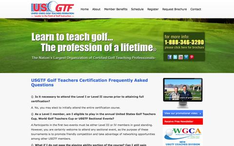 Screenshot of FAQ Page usgtf.com - Frequently Asked Questions   United States Golf Teachers Federation - captured Oct. 4, 2014