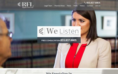 Screenshot of Home Page rightsfirstlaw.com - Rights First Law - Rights First Law - captured Sept. 3, 2015