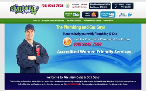 Screenshot of Home Page About Page Privacy Page Terms Page theplumbingandgasguys.com.au - Master Plumbers & Gas Fitters | The Plumbing & Gas Guys - captured Oct. 9, 2014