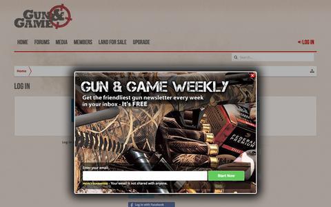 Screenshot of Login Page gunandgame.com - Log in | Gun and Game - captured Oct. 1, 2015