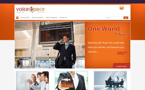 Screenshot of Home Page voicepace.com - Voicepace   Home - captured Oct. 7, 2014