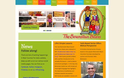 Screenshot of Press Page berenstainbears.com - Berenstain News - captured Feb. 7, 2016