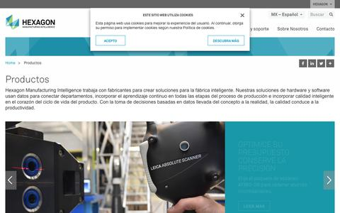Screenshot of Products Page hexagonmi.com - Productos | Hexagon Manufacturing Intelligence - captured Nov. 25, 2017