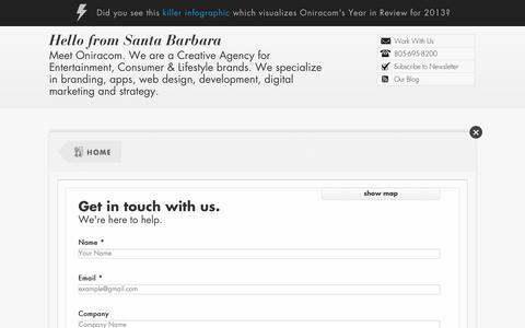 Screenshot of Maps & Directions Page oniracom.com - Home : Oniracom - Web Design, Development and Social Media Marketing - captured Sept. 30, 2014