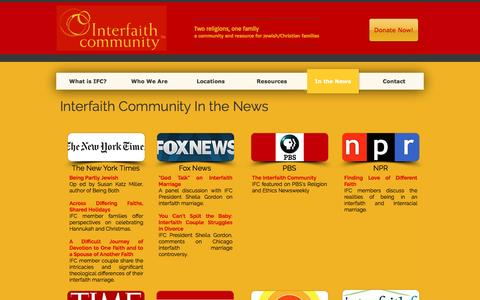 Screenshot of Press Page interfaithcommunity.org - interfaithcommunity   In the News - captured Aug. 6, 2016