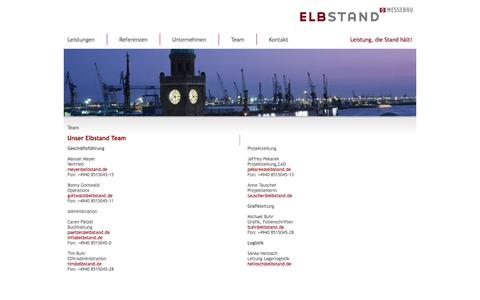 Screenshot of Team Page elbstand.de - Elbstand - Messebau - Hamburg - Team - captured Oct. 2, 2014