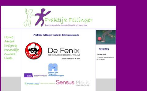 Screenshot of Home Page praktijkfellinger.nl - Praktijk Fellinger - captured Sept. 30, 2014
