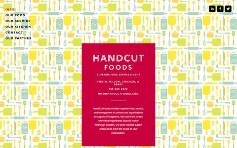 Screenshot of Home Page handcutfoods.com - HandCut Foods - captured Sept. 27, 2014