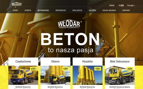 Screenshot of Home Page wlodar.com.pl - start - WÅ'odar - captured May 28, 2016