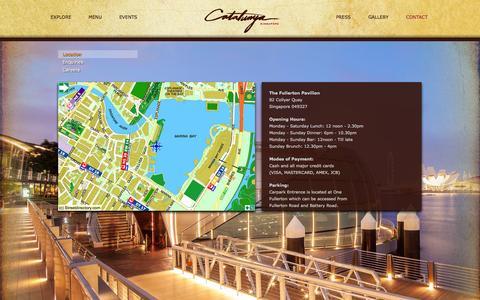 Screenshot of Contact Page catalunya.sg - Contact | Catalunya Singapore - captured Oct. 2, 2014