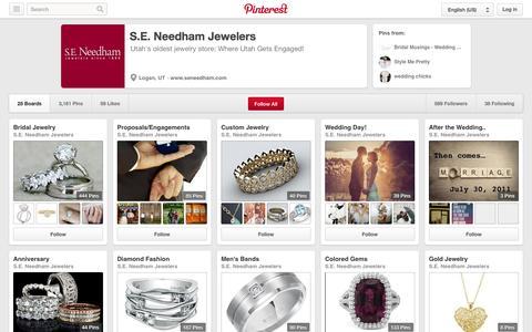 Screenshot of Pinterest Page pinterest.com - S.E. Needham Jewelers on Pinterest - captured Oct. 23, 2014