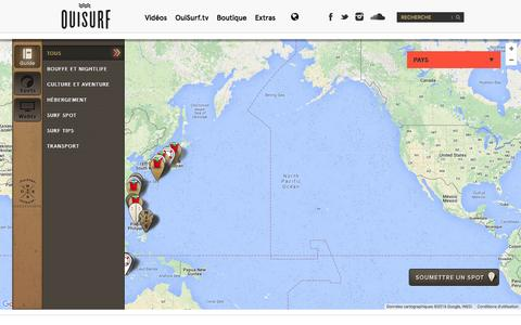 Screenshot of Maps & Directions Page ouisurf.ca - Map | OuiSurf - captured Feb. 26, 2016