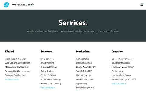 What services do Damteq offer? Web, Marketing & Social Media