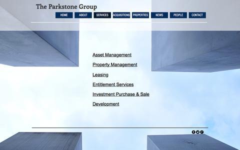 Screenshot of Services Page parkstoneinc.com - parkstoneinc | SERVICES - captured July 14, 2017