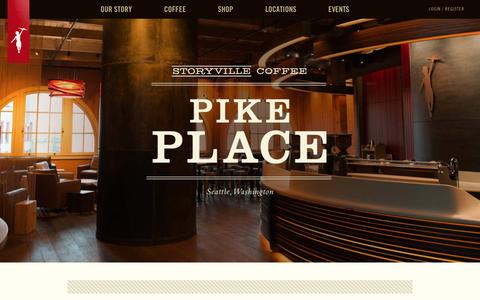 Screenshot of Locations Page storyville.com - Places - Storyville Coffee Company - captured Nov. 19, 2016