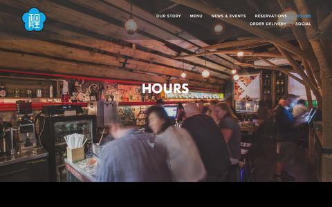 Screenshot of Hours Page tokiunderground.com - HOURS — Toki Underground - captured April 13, 2017