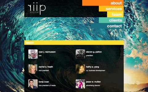 Screenshot of Team Page riip.com - riip | team - captured Sept. 22, 2014