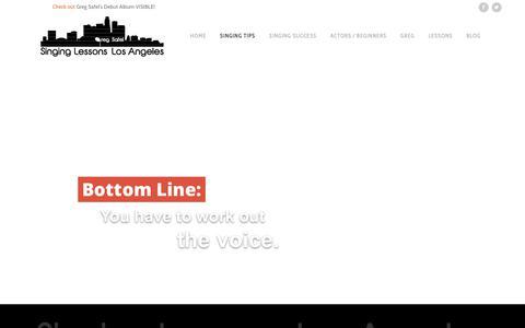 Screenshot of Home Page singinglessonslosangeles.com - Singing Lessons Los Angeles - captured Sept. 23, 2017