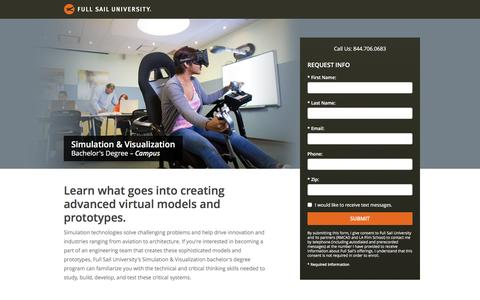 Screenshot of Landing Page fullsail.edu - Full Sail University - captured Dec. 23, 2015