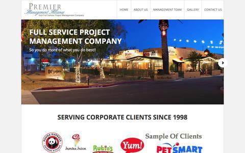 Screenshot of Home Page pmallc.com - PMA LLC – Premier Management Alliance - captured Aug. 24, 2017