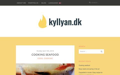 Screenshot of Blog kyllyan.dk - Blog · kyllyan.dk - captured July 7, 2018