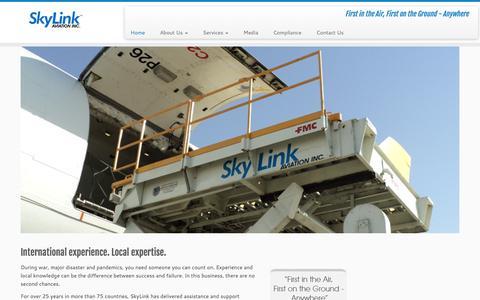 Screenshot of Home Page skylinkaviation.com - Air Cargo Charter, Aircraft Maintenance, Freight Forwarding - captured June 16, 2017