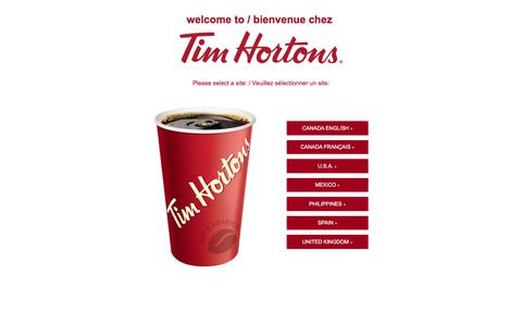 Welcome to Tim Hortons