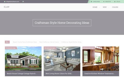 Screenshot of Home Page elawsuitloans.com - Elaw - Craftsman Style Home Decorating Ideas - captured July 13, 2018