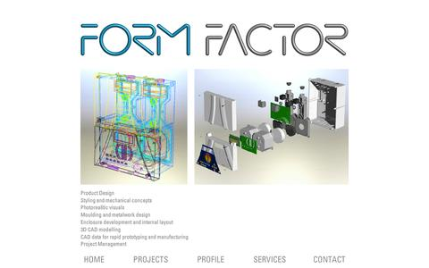 Screenshot of Services Page formfactor.co.uk - Contact FormFactor, Product Design and Product Development Consultants, Northamptonshire, UK - captured Oct. 6, 2014