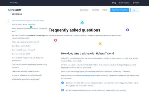 Hubstaff Online Employee Tracking FAQ