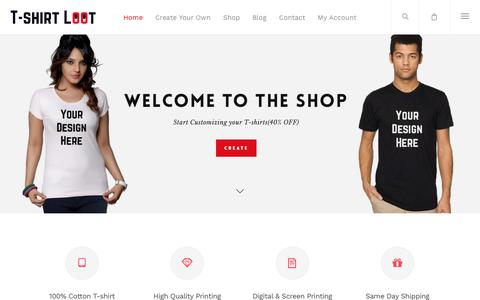 T-shirt Loot – Customized T-shirts India | Design own T-shirt