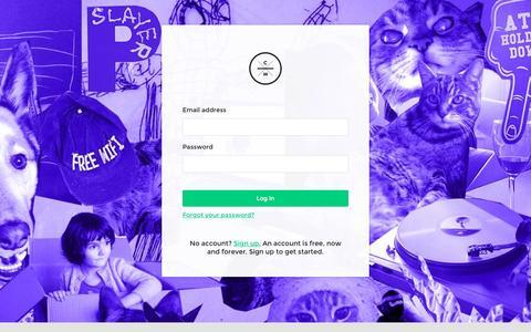 Screenshot of Login Page cashmusic.org - CASH Music | Admin - captured Sept. 28, 2015