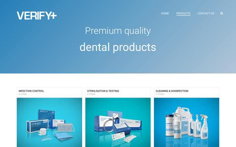 Screenshot of Products Page verifydental.com - Products – VERIFY+ - captured Oct. 20, 2017