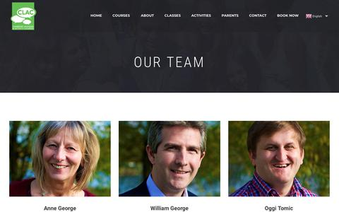 Screenshot of Team Page clac.org.uk - Our Team - Summer Language Course School - captured Sept. 25, 2018