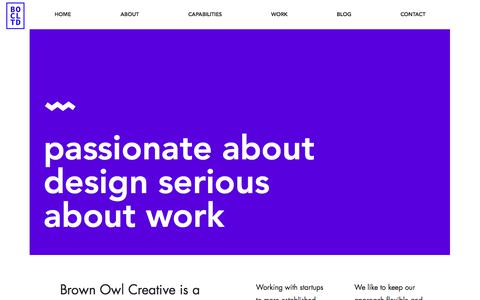 Screenshot of About Page brownowlcreative.com - About Us | WIX Website Designer UK | Brown Owl Creative - captured March 3, 2018