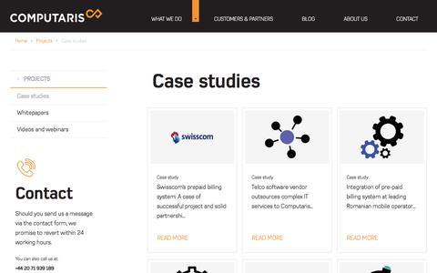 Screenshot of Case Studies Page computaris.com - Case studies | Computaris - captured May 20, 2017
