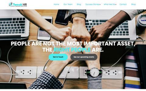 Screenshot of Home Page tweakhr.com.au - Home - HR Specialists - captured Nov. 17, 2018