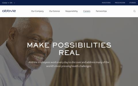 Screenshot of Jobs Page abbvie.com - Careers | AbbVie - captured Dec. 16, 2016