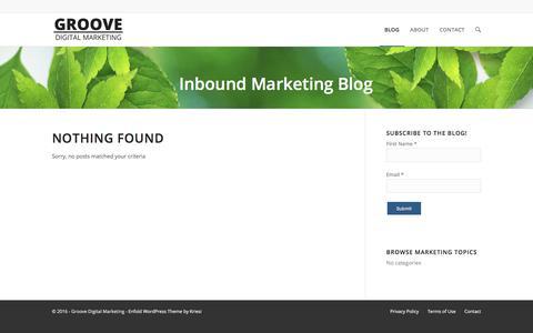 Inbound Marketing Blog - Groove Digital Marketing, Inc.