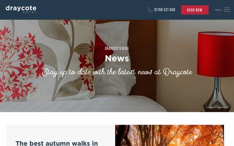 Screenshot of Press Page draycotehotel.co.uk - News | Draycote Hotel, Warwickshire - captured Oct. 9, 2018