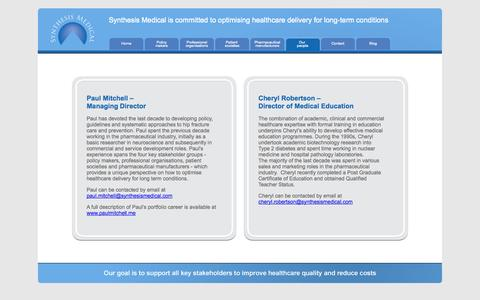 Screenshot of Team Page synthesismedical.com - Synthesis Medical - Our people - captured Oct. 6, 2014