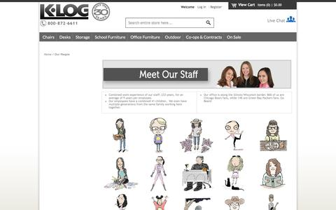 Screenshot of Team Page k-log.com - Our Employees - K-Log - captured Sept. 19, 2016
