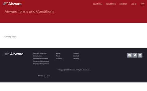 Screenshot of Terms Page airware.com - Terms and Conditions - Airware - captured Oct. 27, 2017
