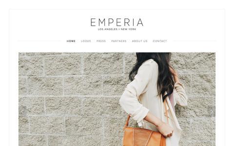 Screenshot of Home Page emperiahandbags.com - EMPERIA HANDBAGS - captured Dec. 9, 2015