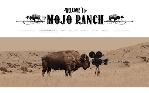 Screenshot of Home Page mojoranch.com - Welcome to The Ranch - Home on the range - captured Dec. 1, 2016